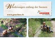 die vier Suonen von Grächen - Matterhorn Valley Hotels