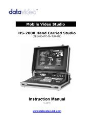 Instruction Manual - All Video System S.r.l.