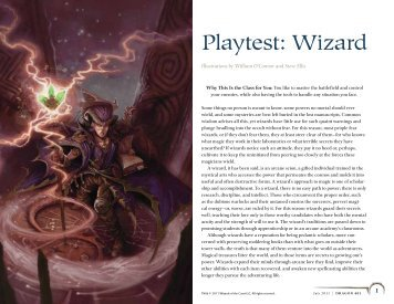 Playtest: Wizard - Wizards of the Coast