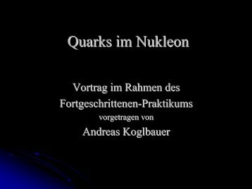 Quarks im Nukleon