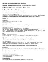 Executive Committee Meeting Minutes – April 3, 2012 Committee ...