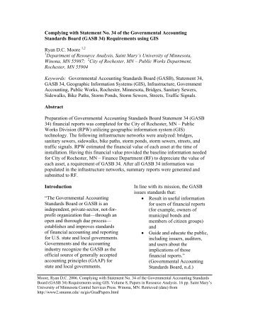 an analysis of the topic of the statement 34 and the governmental accounting system In june 1999, the governmental accounting standards board (gasb) issued statement 34, basic financial statements-and management's discussion management's discussion and analysis this narrative should introduce the financial statements and provide an analytical overview of the lea's.