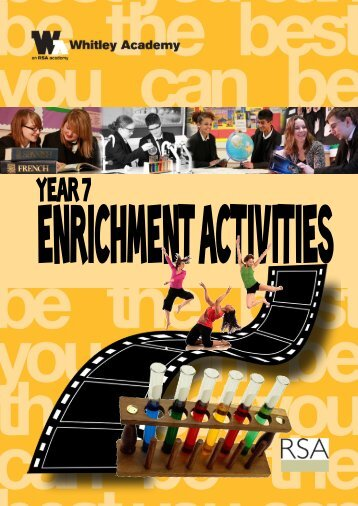 Enrichment Brochure - Whitley Academy