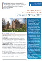 PIR Research Newsletter Oct 2012 - Royal Holloway, University of ...