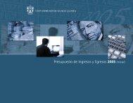Presupuesto de Ingresos y Egresos 2005 (inicial) - Coordinación ...