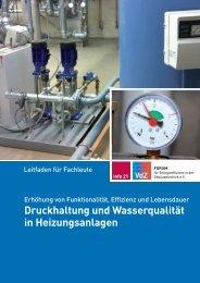 Druckhaltung und Wasserqualität in Heizungsanlagen - VdZ