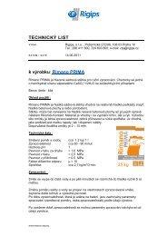 TL- Rimano Prima - Rigips