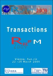 RRFM 2009 Transactions - European Nuclear Society
