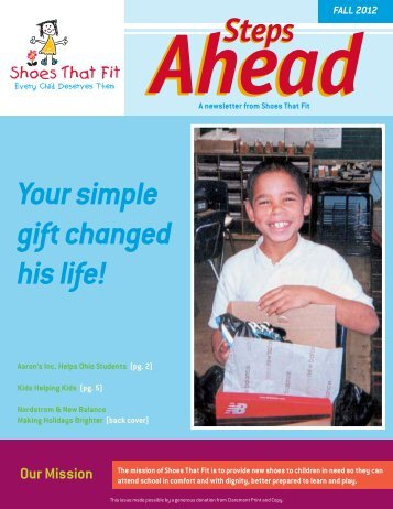 STF Fall News 2012.pdf - Shoes That Fit