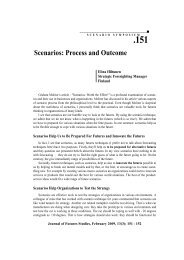 Scenarios: Process and Outcome - Journal of Futures Studies
