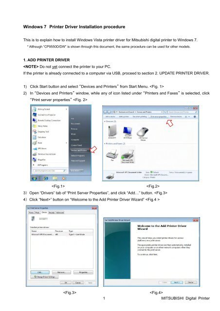 windows printer driver update 7
