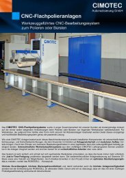 CIMOTEC Cnc-Flachpoliersysteme wurde in enger ...