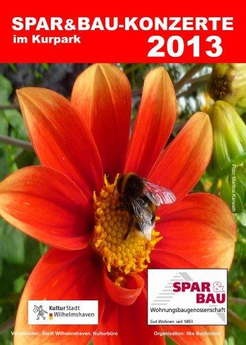 Spar&Baukonzerte; 2013 Seite 1 und 2gr - Stadt Wilhelmshaven