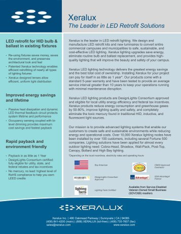 Xeralux LED Lighting Overview-8222012 - NFMT