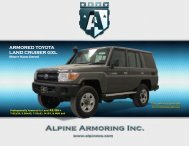 ARMORED TOYOTA LAND CRUISER GXL - Alpine Armoring Inc.