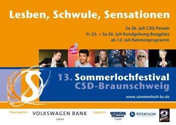Lesben, Schwule, Sensationen - Sommerlochfestival | CSD ...