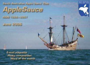 AppleSauce June 2006 - South Australian Apple Users' Club