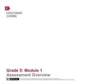 GRADE 5, MODULE 1: ASSESSMENTS NYS Common ... - EngageNY