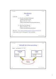 Datenbanken Methodik der Lehrveranstaltung