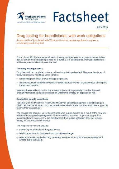 Pre-employment drug testing for health practitioners