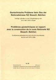 Geotechnische Probleme beim Bau der Nationalstrasse N2 Sissach ...