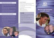 School Satisfaction Survey 2010 - Education and Training ...