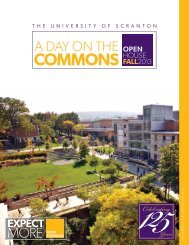 A Day ON THE Commons - The University of Scranton