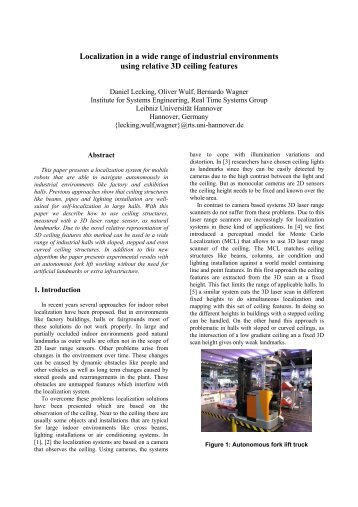 Localization in a wide range of industrial environments using ...