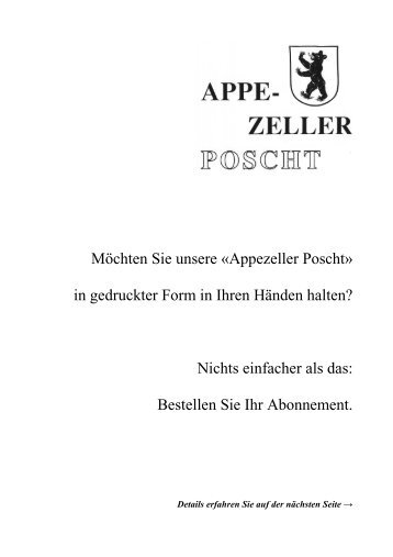 Appezeller - Poscht 79 - zurück