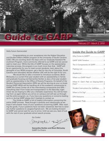 Guide to GARP - University of South Carolina