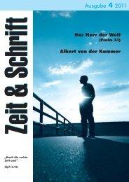Heft 4/2011 - Zeit & Schrift