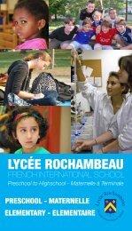 The French Pre-Elementary School (maternelle) - Lycée Rochambeau