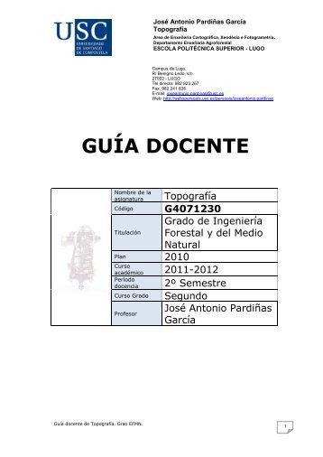 GUÍA DOCENTE - Páxinas persoais - USC