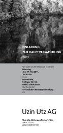 Tagesordnung zur Hauptversammlung 2011 - Uzin Utz AG