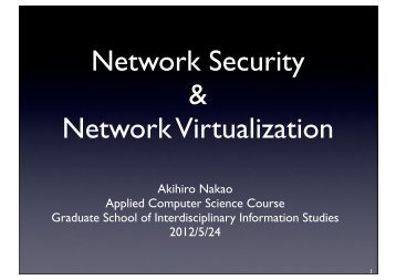 Network Security & Network Virtualization - ItrC
