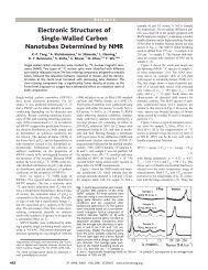 Electronic Structures of Single-Walled Carbon Nanotubes ...