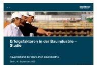 Erfolgsfaktoren in der Bauindustrie – Studie - Roland Berger