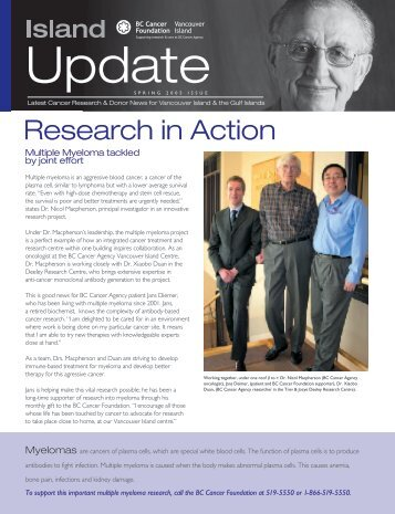 Research in Action - BC Cancer Agency