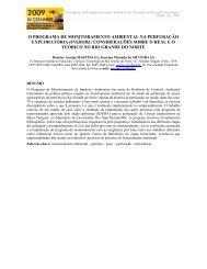 o programa de monitoramento ambiental na perfuração exploratória ...