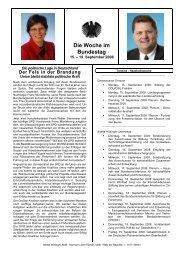 Die Woche im Bundestag 19.09.2008 - CDU Saar