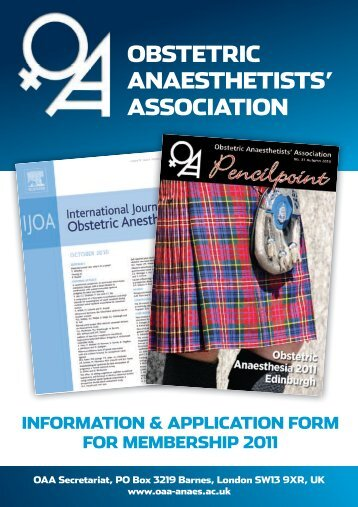 OBSTETRIC ANAESTHETISTS' ASSOCIATION - The Obstetric ...