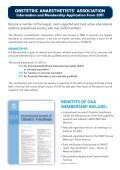 OBSTETRIC ANAESTHETISTS' ASSOCIATION - The Obstetric ... - Page 2