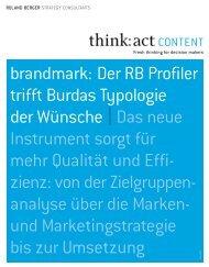 brandmark: Der RB Profiler trifft Burdas Typologie ... - Roland Berger