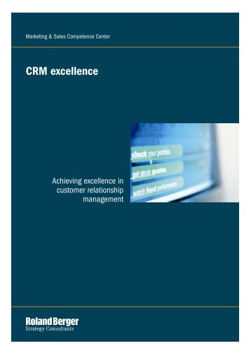 CRM excellence - Roland Berger