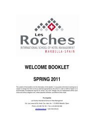 welcome booklet spring 2011 - Les Roches International School of ...
