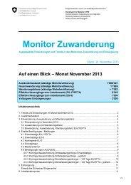 Monitor Zuwanderung, November 2013 - Bundesamt für Migration