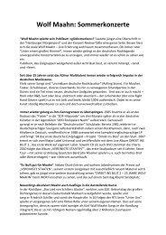 Wolf Maahn: Sommerkonzerte - Morscheck & Burgmann