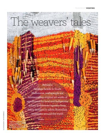 Weaving - The Australian Way October 2012 - Qantas