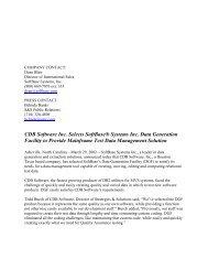 CDB Software Inc. Selects SoftBase® Systems Inc. Data Generation ...