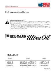 UO Riello F5 Oil Burner Manual - Weil-McLain